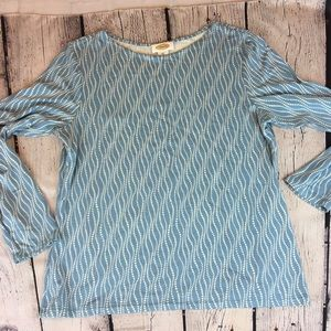 Talbot's Casual pull over shirt Blue Gray